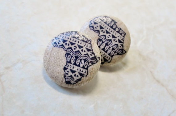 how to make african fabric earrings