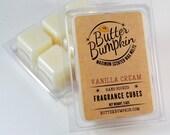 Vanilla Cream Scented Wax Melts - Maximum Fragrance Wax Cubes - Classic Creamy Vanilla Candle Melts