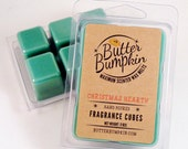 Christmas Hearth Scented Wax Melts - Maximum Fragrance Pine Tree & Fireplace Breakaway Wax Cubes - Holiday Scented Candle Melts