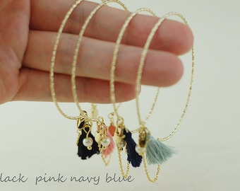 Gold Bracelet with Peal & Gold Pendant-teeny tiny jewelry from new york