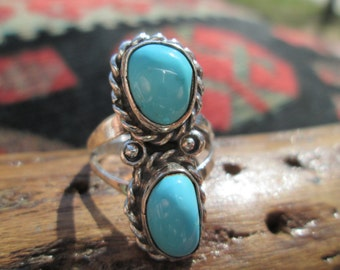 Turquoise and Sterling Ring Size 6.5