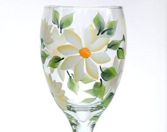 White Daisies Goblet
