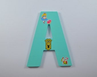Children's wooden alphabet