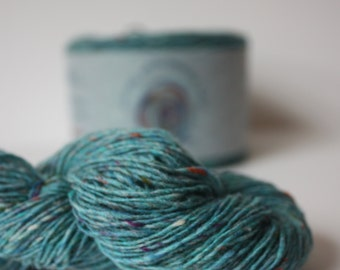 Spinning Yarns Weaving Tales - Tirchonaill 572 Carnival Jade 100% Merino for Knitting, Crochet, Warp & Weft