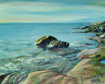 Rocks. Oil on canvas board. 11x14 inches.