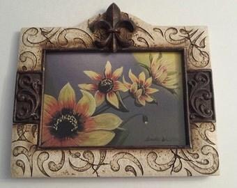 SIGNED Framed Sun Flower Art Print