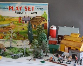 Vintage Marx Miniature Sunshine Farm Play Set