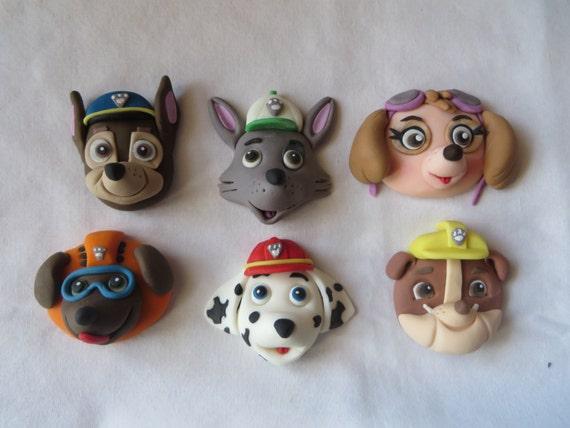 Paw Patrol Fondant Cake Cupcake Topper Heads