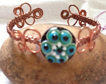 REDUCED-Wire Wrapped Cuff Bracelet