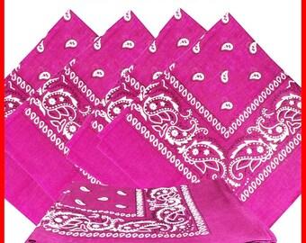 """22"""" x 22"""" Bandana - Pink Paisley (x12)"""