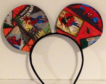 Spider Man Inspired Mouse Ears