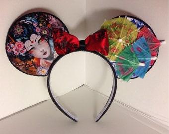 Geisha Girl Inspired Mouse Ears