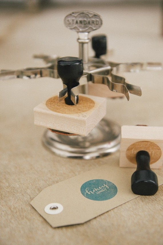 Personalized Wooden Address Stamp {Square}
