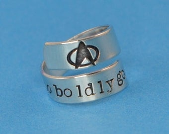 To Boldly Go Wrap Ring