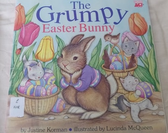 Vintage Grumpy Bunny Book Easter Bunny Story Book Grumpy Rabbit Childrens Book Cute Rabbit Kitten Illustrations Paper Ephemera Easter Gift