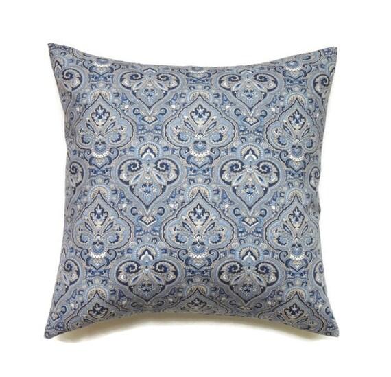 Indigo Blue Throw Pillow : Indigo Blue Pillow 18x18 Pillow Cover Decorative by ThePillowToss