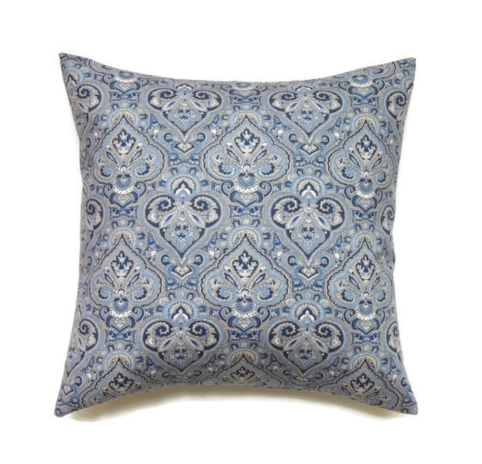 Indigo Blue Pillow 18x18 Pillow Cover Decorative by ThePillowToss