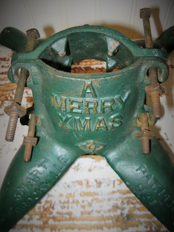 Antique Christmas Tree Stand Cast Iron Tree Stand by PoemHouse