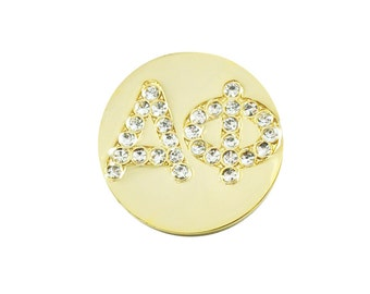 Insert - Gold & Crystal Alpha Phi Charm