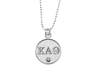 Silver Kappa Alpha Theta Necklace