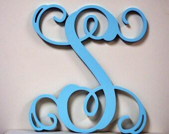 18 inch PAINTED Wooden Monogram Letters- Wall Hanging letters- Door Hanger