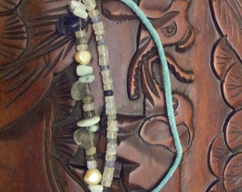 Beach summer playing in the waves anklet. Multi gemstone anklet