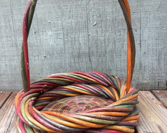 Thick Colorful Wicker Basket