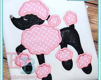 Poodle Applique - This design is to be used on an embroidery machine. Instant Download