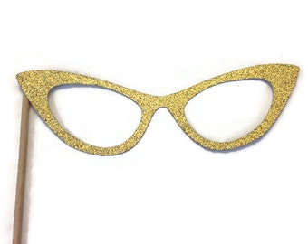 Photo Booth Prop - Glasses  Photo Booth Prop with GLITTER- You Choose the Color