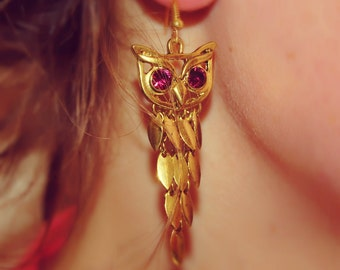 Owlish Earrings