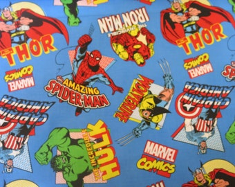 "1/2 yard of 100% cotton ""Marvel Avengers"" Fabric"