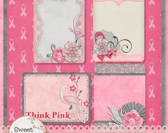 Think Pink Journal Tags