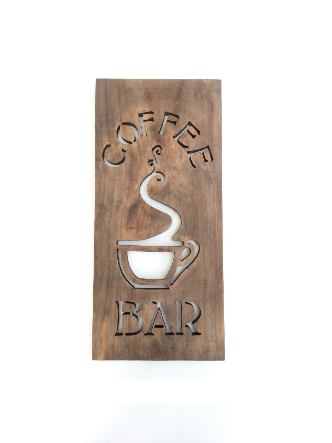 Coffee sign modern kitchen art wood home bar by timberartsigns Cool wall signs