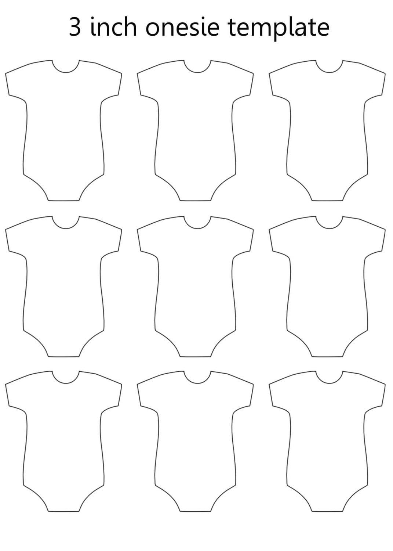 Universal image regarding printable onesie template