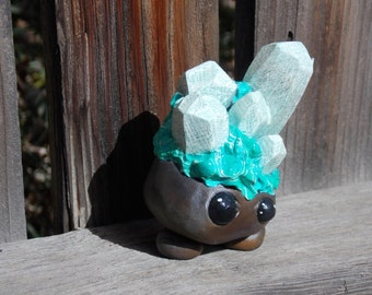 Barite on Malachite Crystal Sprite - One of a Kind