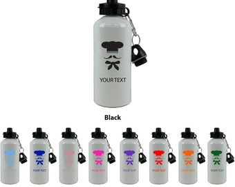 Personalized Custom 20 Oz 600ML Baker White Sport Aluminum Water Bottle with Lid Holiday Gift