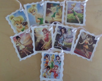 TINKERBELL, Set of 9 Gift tags.