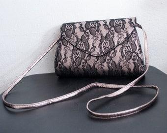 Neiman Marcus ,lace purse,bag, Pink ,Black, Lace, Purses, Shoulder Bag,formal purse