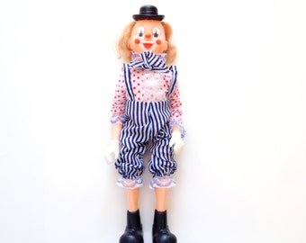 Vintage Clown Doll made in Hong Kong