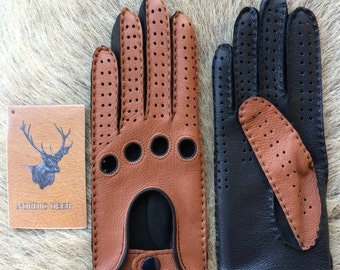 Women's Driving Leather Gloves - Deerskin Gloves for driving
