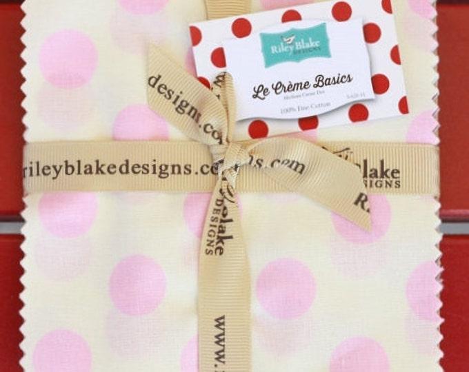 Riley Blake - Le Creme Basics Charm Pack - Medium Dots