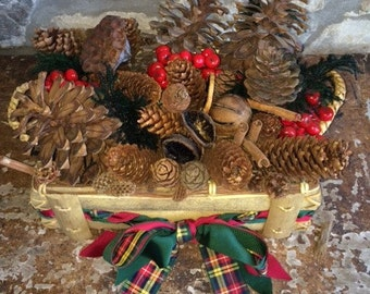 Medium Christmas Basket filled with the Magic of the Woods
