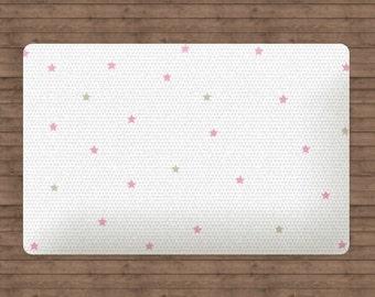 Star Rug, Moon and Stars Decor, Moon and Stars Nursery, Moon Stars Nursery, Stars Nursery, Baby Girl Nursery Decor, Pink Rug, Christmas Rug