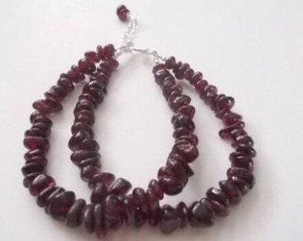 Red Garnet Bracelet.