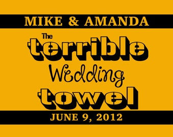Custom Wedding Towel