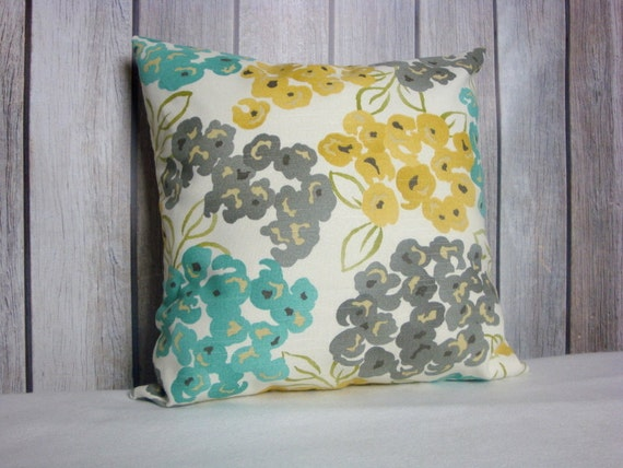 Floral Pillow Cover. Throw Pillow. Teal Pillow Covers. Seafoam Pillows. Yellow Pillows. Pillow Covers. Teal Pillows. Blue Pillows