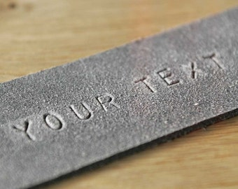 Zutat – stamping of your individual text on leather, WT0614