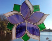 Flower Stained Glass Sun Catcher