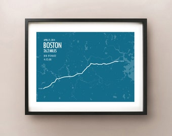 Boston Marathon Print 2014