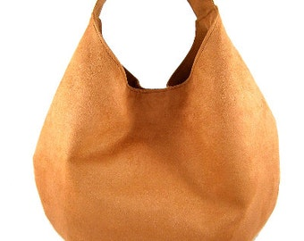 Women handbag Hobo bag Suede purse Modern bag Big handbag Bag for women Carry bag Packable bag